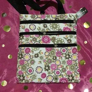 Handbags - Pink Floral Cross Body Bag New